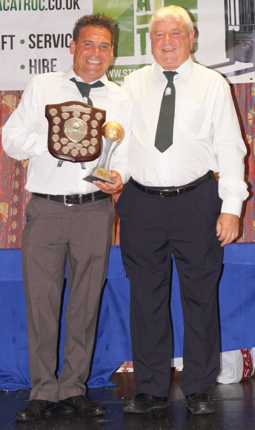 Gary Penfold was the winner of the Nicola Kingham Memorial Shield for the club-wide Manager of the Year award