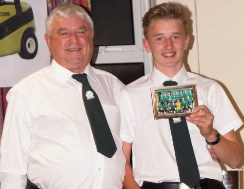 Captain of the the title-winning U15s, Mitchell Barrett's great season was completed with the accolade of Patrons Award for Excellence