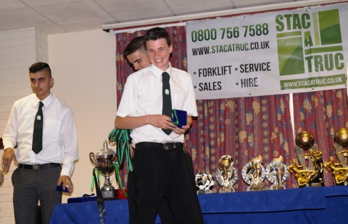 A smiling Joseph on the stage ... well done mate!
