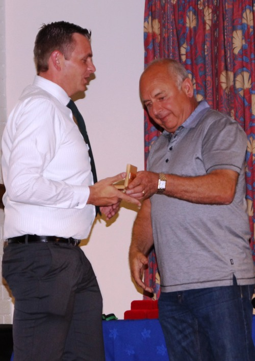 John Collen and Dave Hart mark a great twelve months of hard work with the U13s