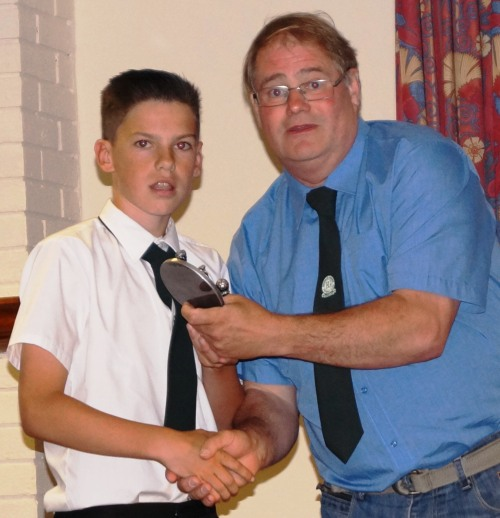 Lewis, if you had been listening, you would have know what the trophy was for! U14s Merit Award ... well done!