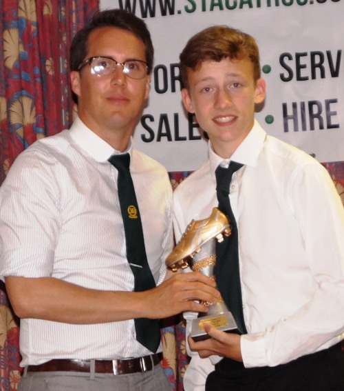 Brandon's enormous progress last season earned him the Players Player Award for the U15s ... well done!