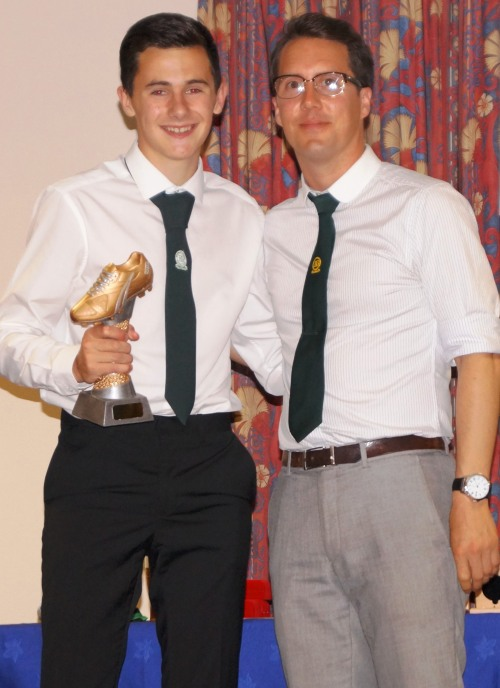 Callum Monaghan, Players Player for the U16s last season, with Terry Perk