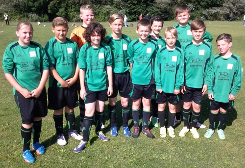U13 Colts who played out an entertaining match with New Romney