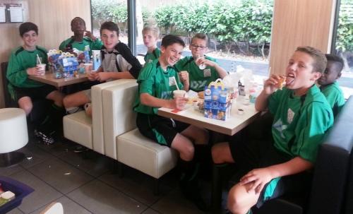 A win bonus of McDonalds for the Under 14s yesterday