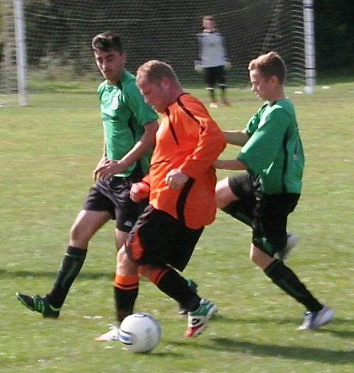 Josh and Kurtis who excelled in the midfield for the young Greens today