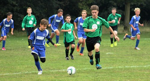 Hayden on the attack as the new Colin Batt Removals strip brings an emphatic win ... dozens more photos on the slideshows below and Youth Football pages