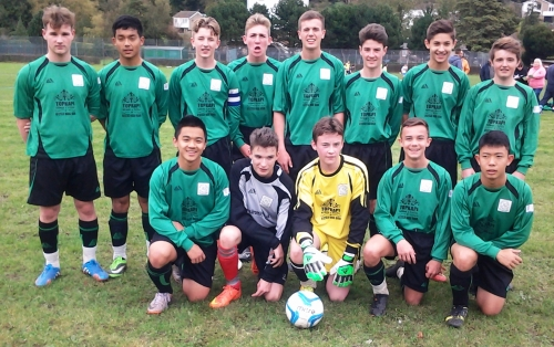 The Under 16s who progressed in the Cup this afternoon at River