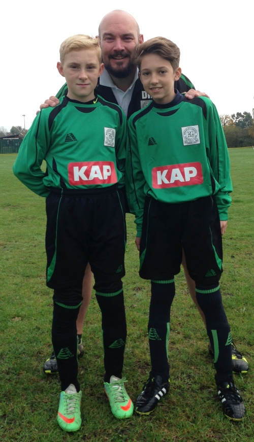 Reece and Jack made their debuts today for the U13 Colts