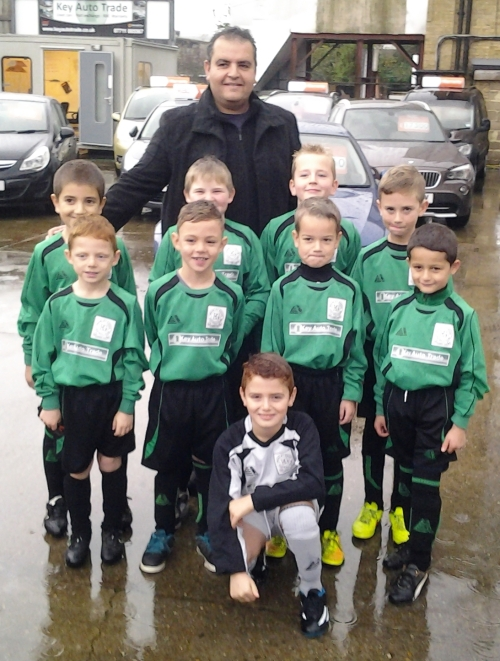 The U8s early arrivers with our sponsor Khaled of Key Auto Trade