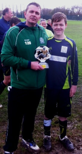 Congratulations to Kieron, U14s Player of the Match today