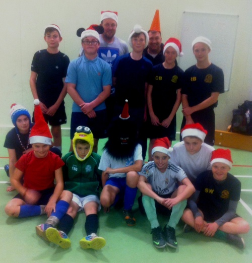 The Under 13s last training session prior to Christmas