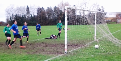 Tom Moon on target at Waterside as the Green defeated Burton Grove for the third time this season