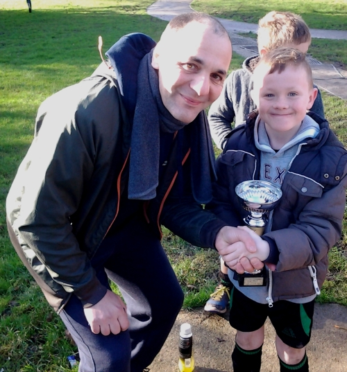 24.1.2015 Leo is our U9s Player of the Match on his dad Shane's birthday