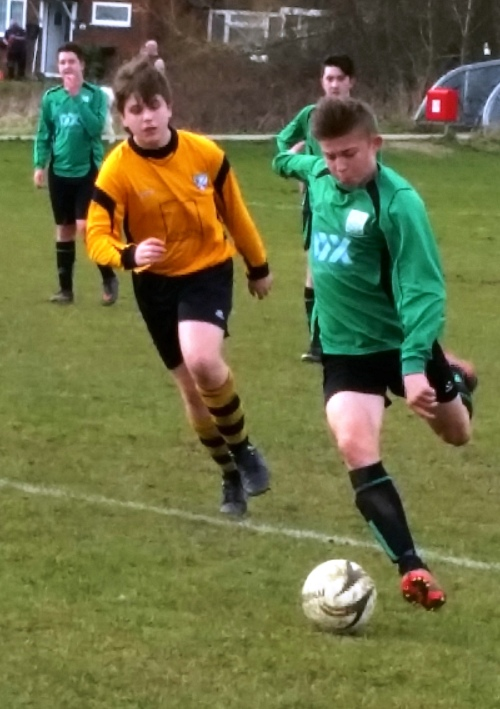 Layton Bryant who is maturing in his midfield role for the Under 15s