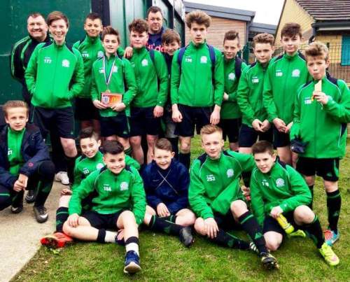 The victorious U13 squad