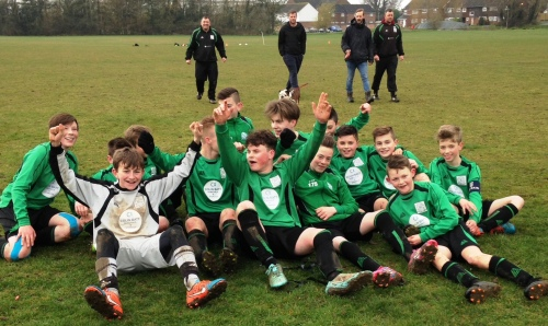 Champions ... unbeaten with two games still to play