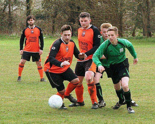 Kurtis Hooper and Connor Gower in action against Marsh Athletic ... loads more photos to follow from Paul E Carter and Graham Hooper