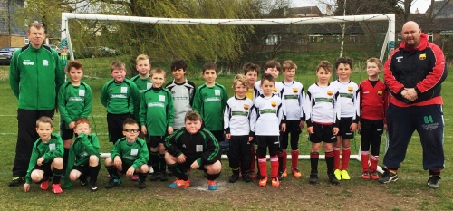 The U8s of Pilgrims and Bromley Green who enjoyed a friendly match this morning