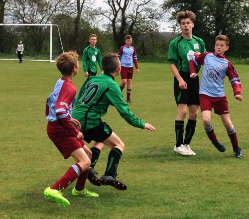 Action from the U13s semi final