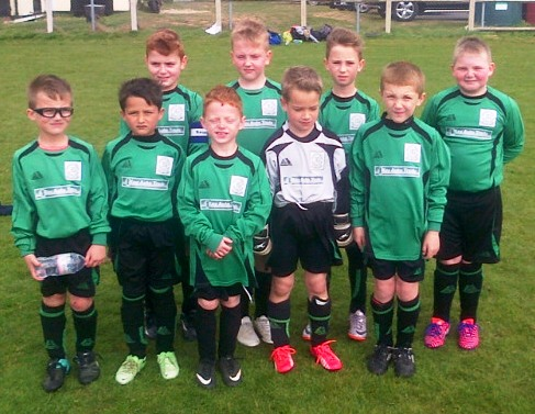 The Green U8s who enjoyed the Respect tournament at Wye