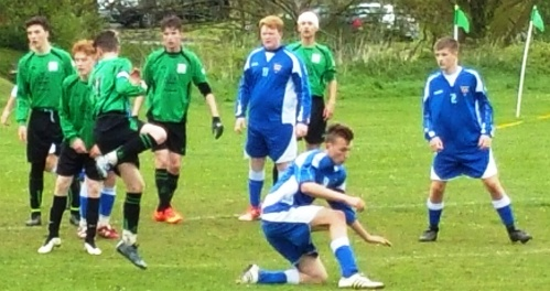 Action from today's 5-1 win over Faversham as the U16s cling onto their double hopes
