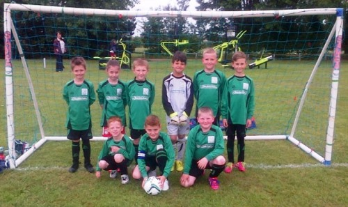 Bromley Green U8s at the Park Farm Rangers tournament