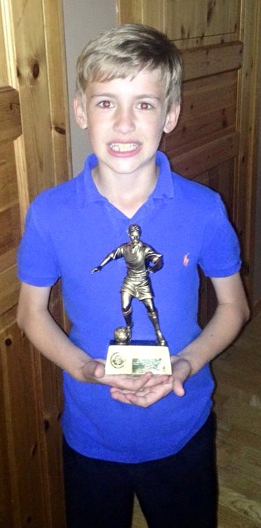 Well done Kieran ... MIP Under 10s