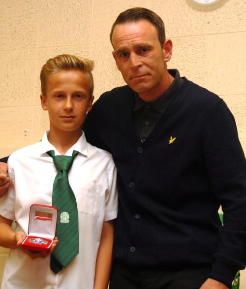 Kuba receives his EKYL r/u medal from Damian Morse