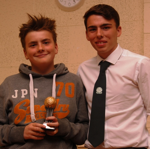 Well done Tobias ... U13 Colts Best Newcomer