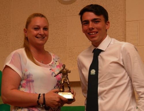 Peach accepts the MIP Award on behalf of holidaymaker Jack Hollamby