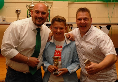 Following in the footsteps of father Paul and grandfather Alan ... Lous May is the U13 Colts Endeavour Award winner