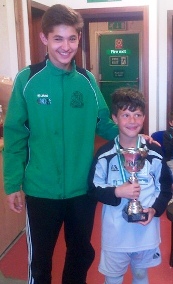 Amir with the U8s Player of the Ashford Utd Tournament, Leo