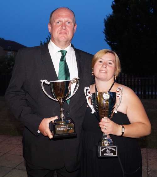 Phil and Emma Castle celebrate a fantastic KDL league and cup double