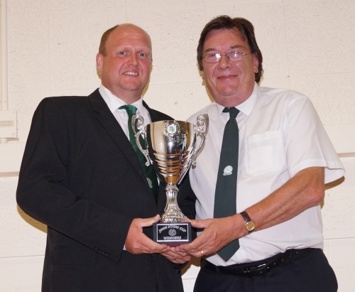 Phil receives the John Myers Cup from Stan