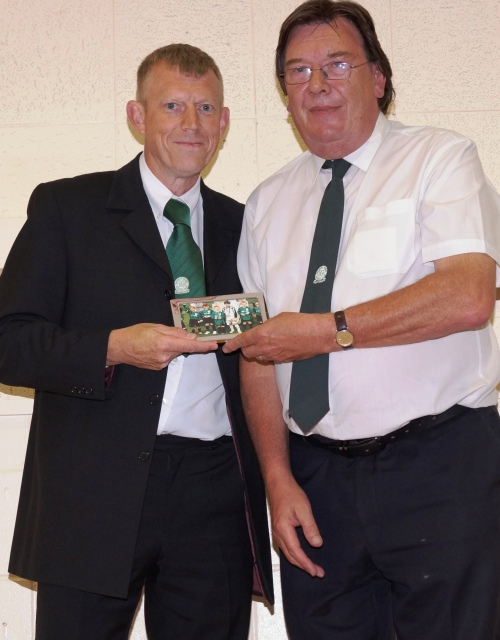 Pat Penfold, who is enjoying his roles with both the Valiants and mainstream, receives his thank you gift