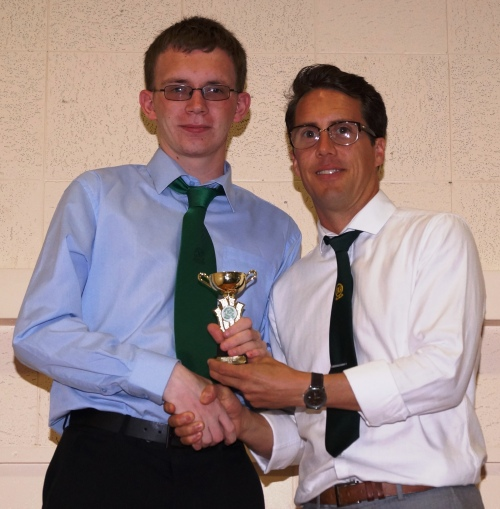A well-deserved Merit Award for Aaron Small