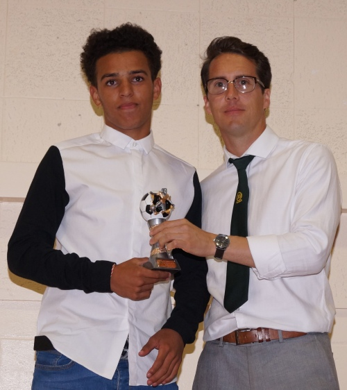 The Best Young Player Award goes to Levii who is looking forward to progressing into the senior set-up
