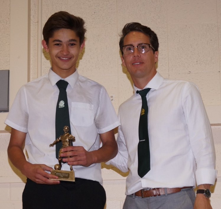 A great season for Amir ... here receiving the U16s Managers Player Award