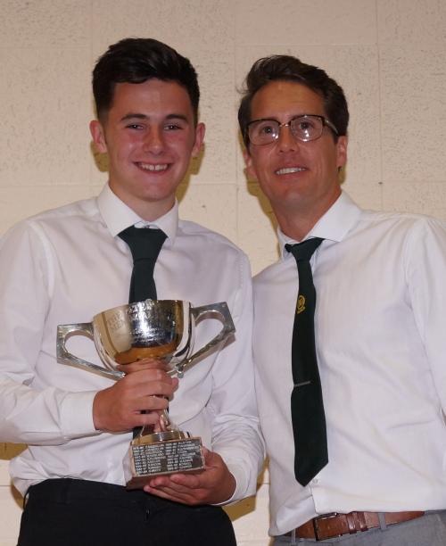 Callum Monaghan is the winner of the prestigious Peter Knott Memorial Trophy