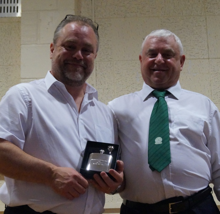 Vice-Chairman Shane Cowley is rewarded for his work throughout the year