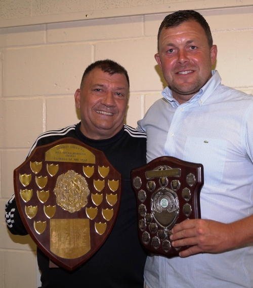 Ian and Martin with their awards