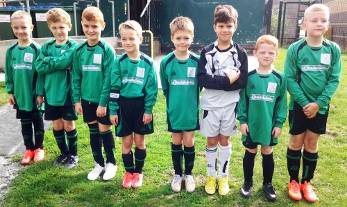 The U9s, sponsored by Key Auto Trade, ready to leave for Great Chart