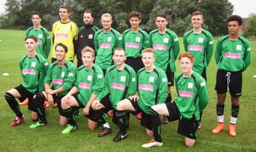 The Green boys, sponsored by Nat'ural Hair, prior to last night's entertaining 3-3 draw