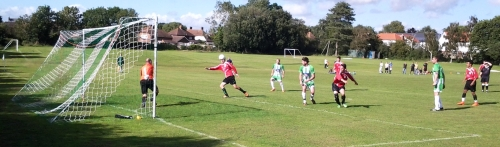 Green's second goal on the way last Saturday ... this week we welcome Smarden to Waterside