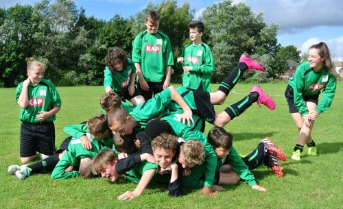 Never a dull moment for the U14 Colts at training this weekend