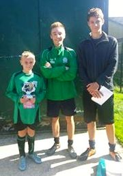 Callum, seen here with Sam and The Tinkerman, was our PoM today for the brilliiant U11s
