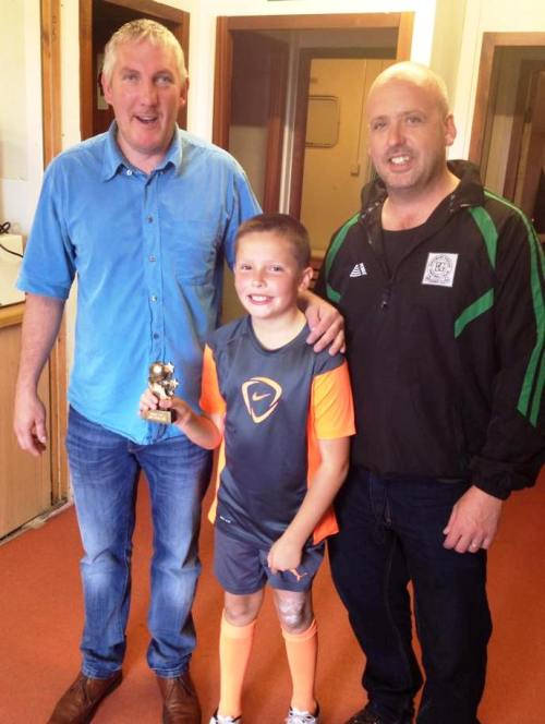 Steve and Sid with our PoM Joseph after an entertaining match with Park Farm Rangers yesterday