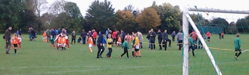 Good crowds at the ADYFL Autumn Respect tournament at Waterside yestrday
