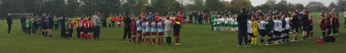 Applause in memory of Connor McDonald before yesterday's U10s Respect event at Waterside